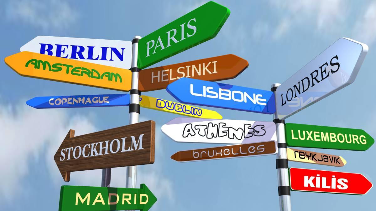 diferentes direcciones: países