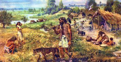 paisaje de un asentamiento prehistórico