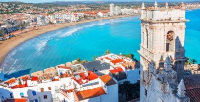 vista area de la costa de valencia
