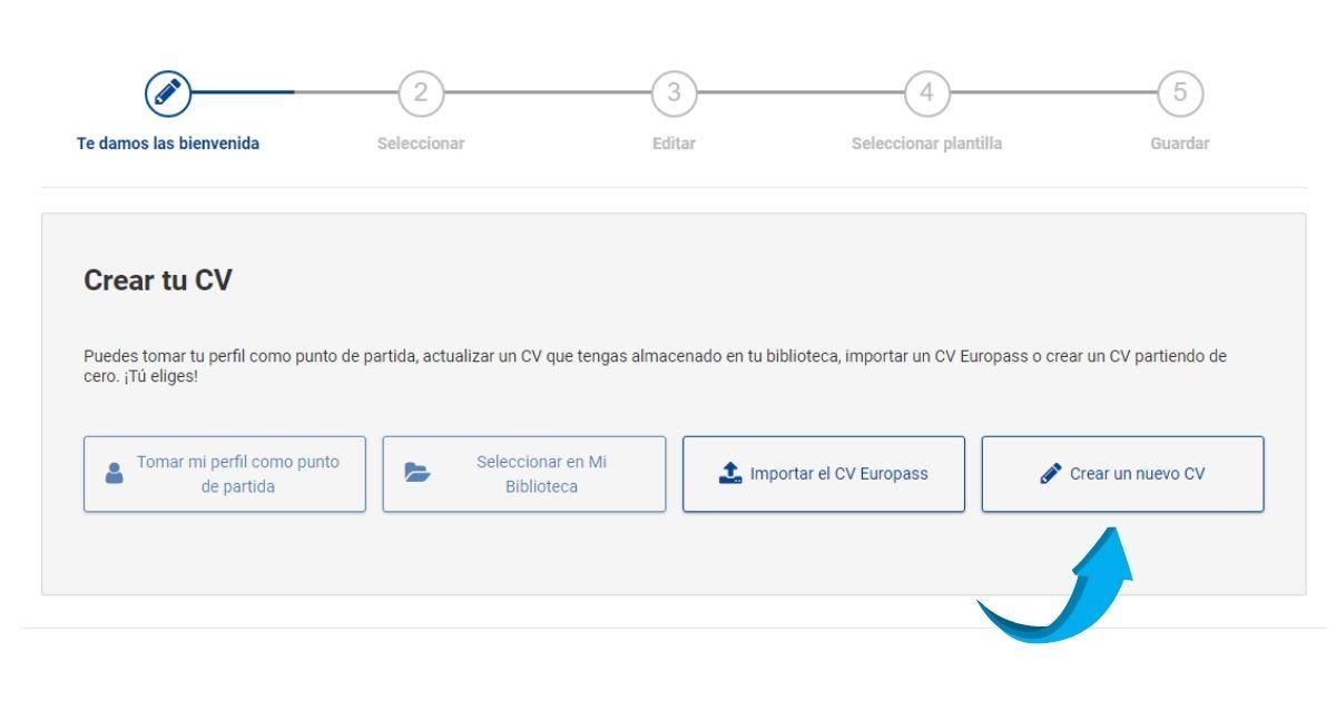 crear CV EUropass