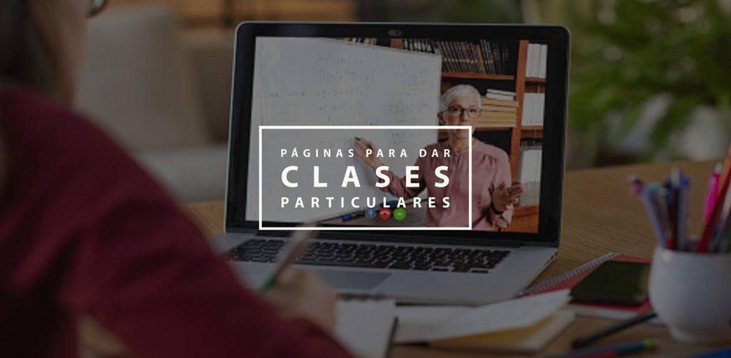 Páginas para dar clases particulares