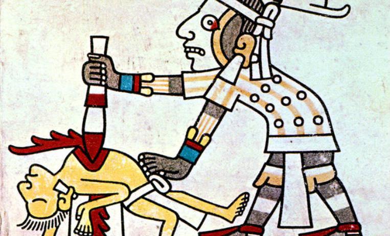 religion azteca: sacrificios humanos