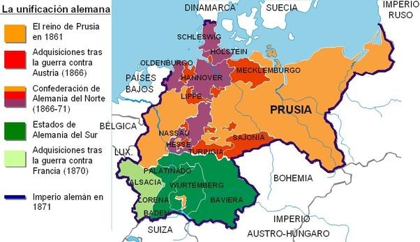 imperio aleman: mapa