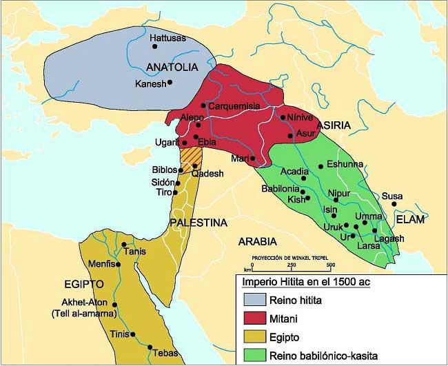 Imperio Hitita: mapa